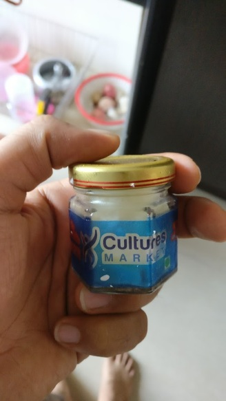 Kefir grains started pack as received from Cultures Market
